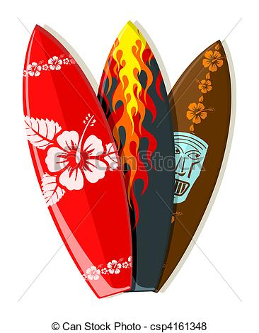 Red clipart surfboard #5