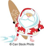 Surfer clipart santa  illustration cartoon a
