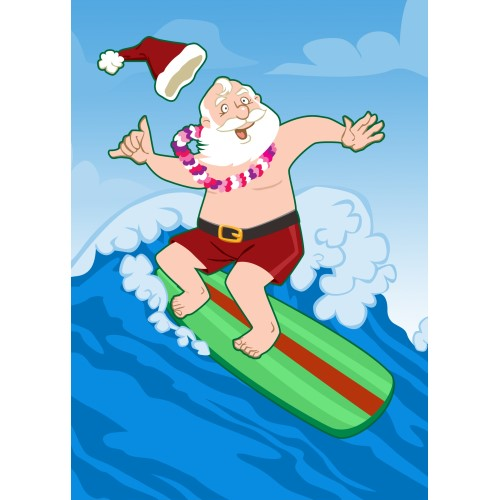 Surfer clipart santa  Funny Facebook Comments Christmas