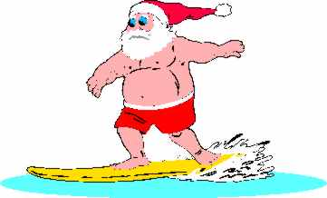 Surfer clipart santa You contained free removed page