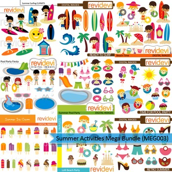 Surfer clipart summer activity And Mega party surfing Summer