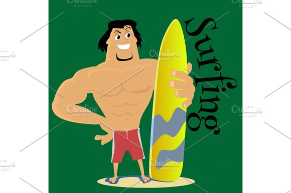 Surfer clipart summer activity Surfing activity summer extreme isolated
