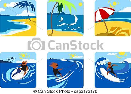 Surfer clipart summer activity Stock Illustration Activities Illustration Summer