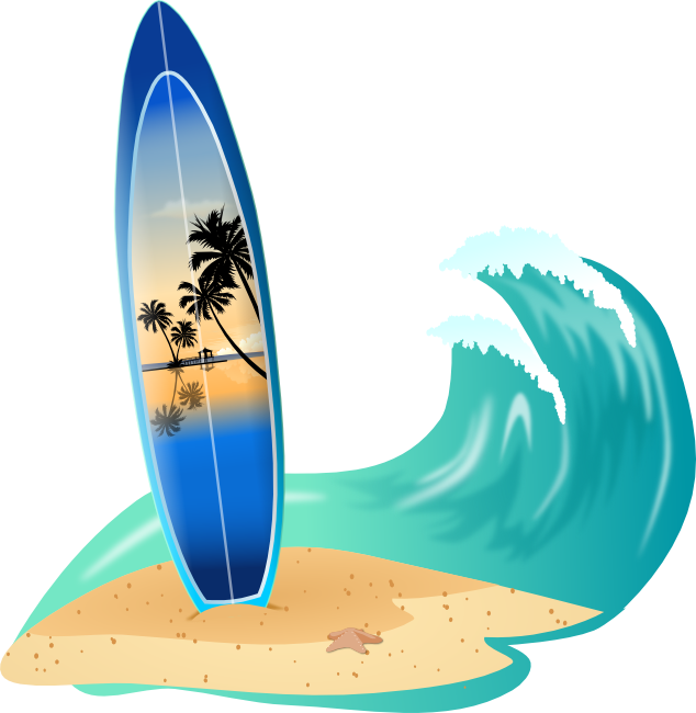 Weaves clipart surf wave #1