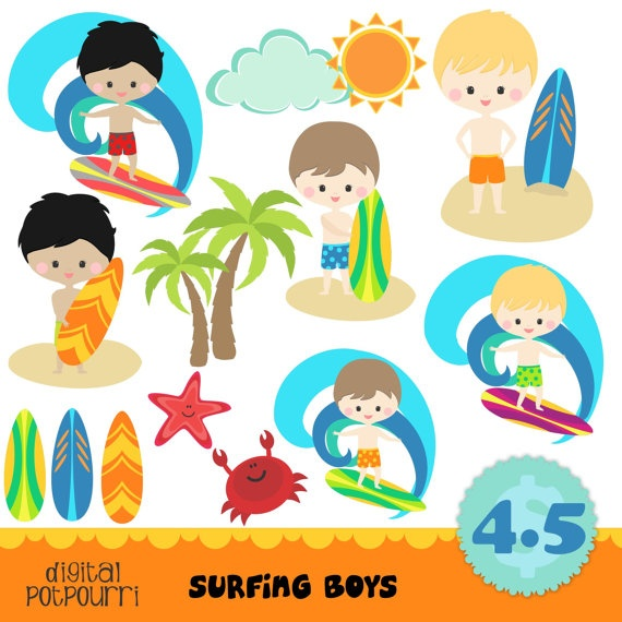 Surfer clipart surfer kid Surfing  about images 17
