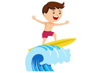 Surfer clipart surfer kid Clipart Free Clipart Clip Sports