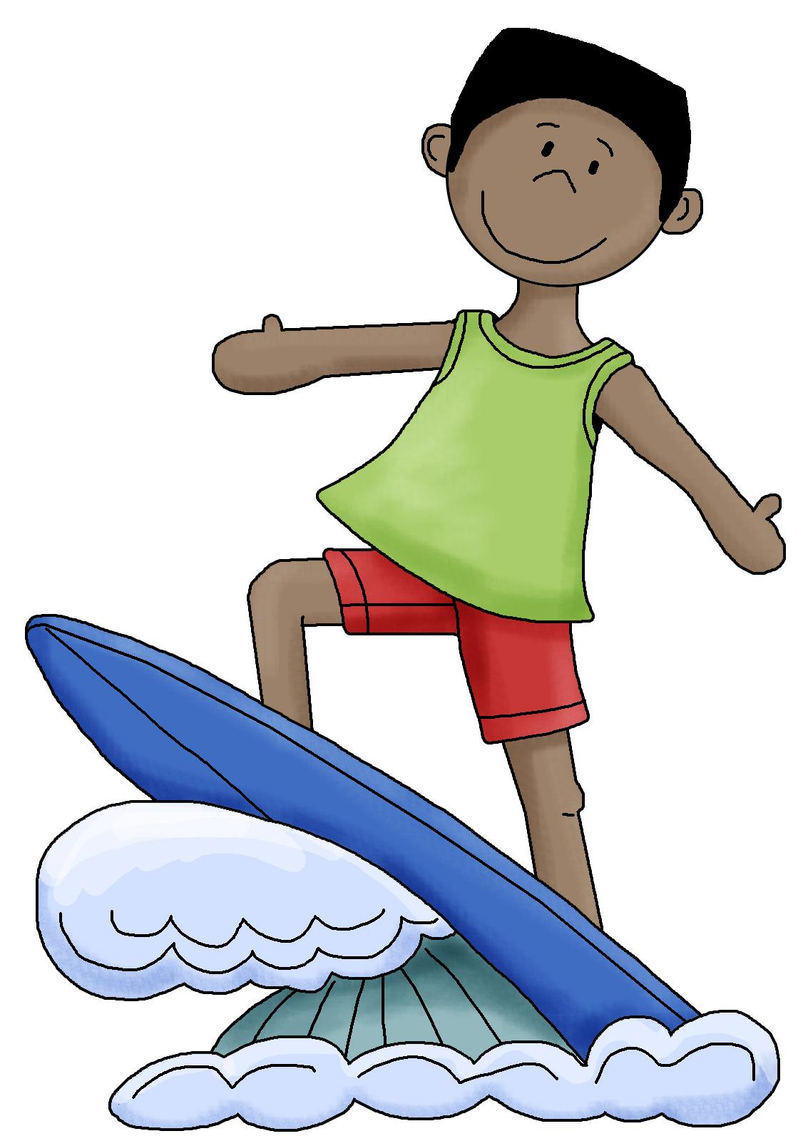 Surfer clipart surfer kid Hawaiian  Clip Art Art