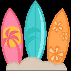 Surfboard clipart vector Scrapbook  scrapbook files clipart