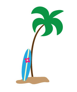 Surfboard clipart outline #11