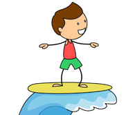 Surfer clipart surfer kid Search  clipart From: Search
