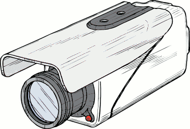 Surveillance clipart black and white Panda  Free Video Clipart
