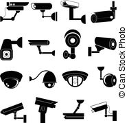 Surveillance clipart icon Camera of set set icons