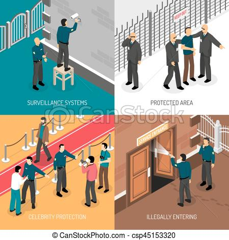 Surveillance clipart security service Security 4  Icons Isometric