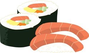Sushi clipart Futomaki Sushi Sushi Clipart Clipart