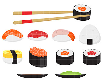 Sushi clipart Etsy Crafts Card Sushi Party