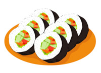 Sushi clipart china food Art Food Illustrations Clipart Size: