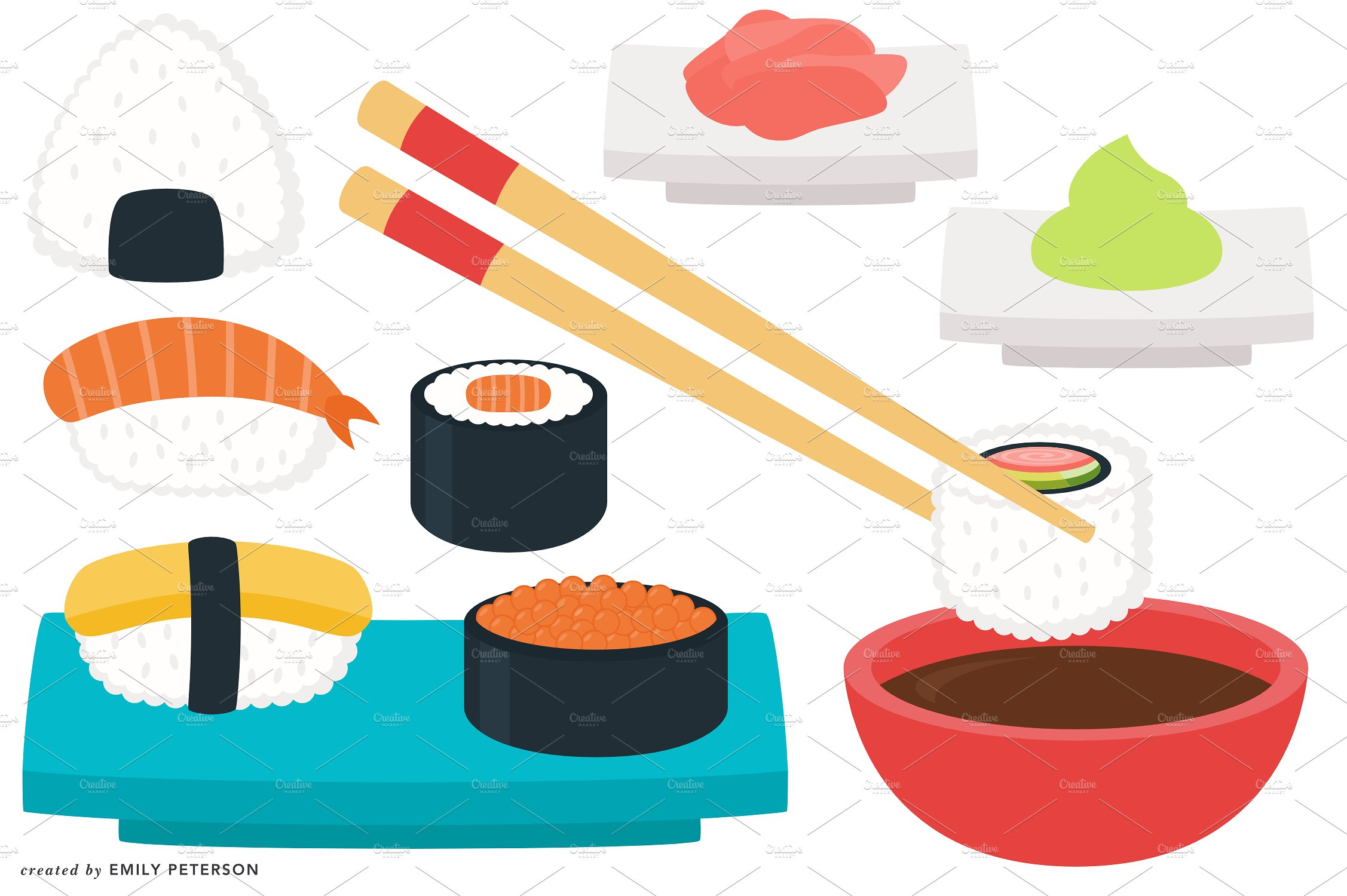 Sushi clipart graphic Sushi Photos Clipart Themes Graphics