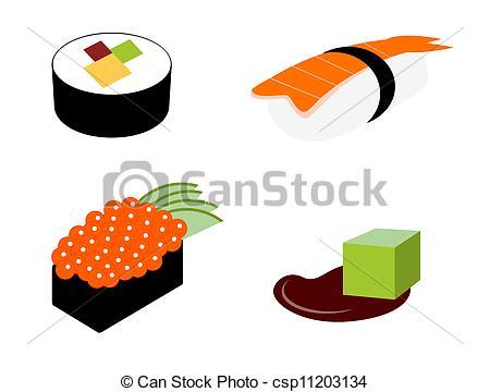 Sushi clipart graphic Vector set Vectors  sushi