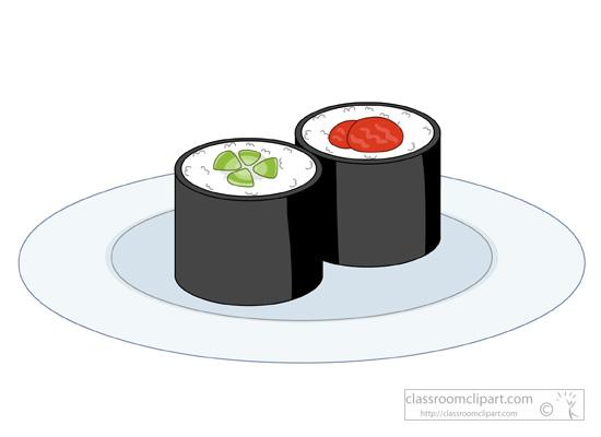 Sushi clipart graphic Graphics sushi Size:  maki