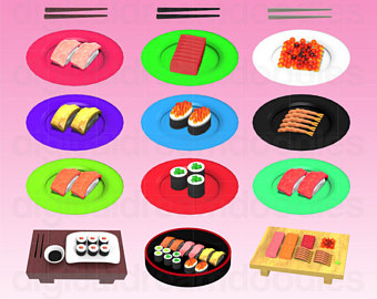 Sushi clipart graphic Art Sushi Art Etsy Clipart