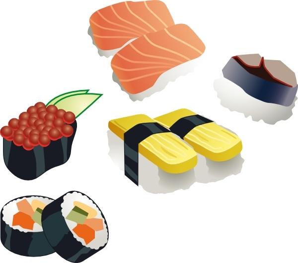 Sushi clipart graphic Svg clip Sushi ( Set