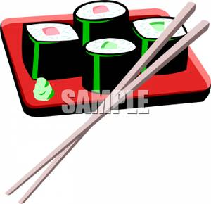 Sushi clipart japanese chopstick Images Clip and Info Art