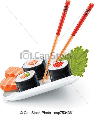 Sushi clipart japanese chopstick Of food Sushi and with