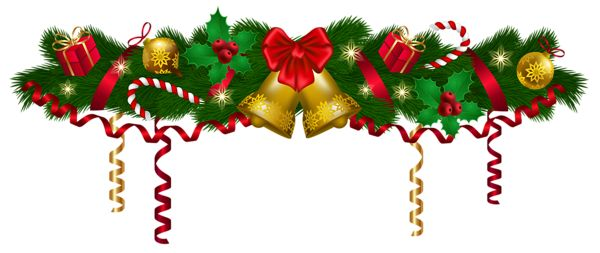 Merry Christmas clipart holiday garland Garland Collection clipart Christmas clipart