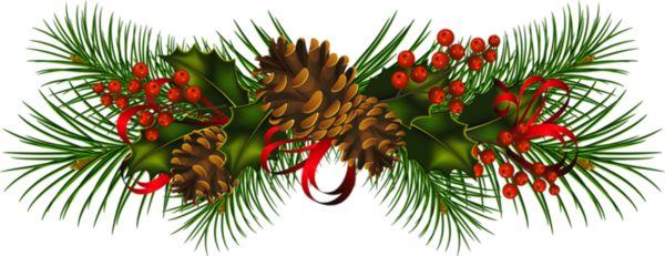 Wreath clipart evergreen garland Swag collection Garland wreath &