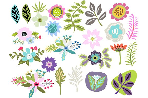 Red Flower clipart swag Art Photos ~ Templates swag