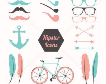 Swag clipart hipster glass Clipart clip Retro Feather Vector