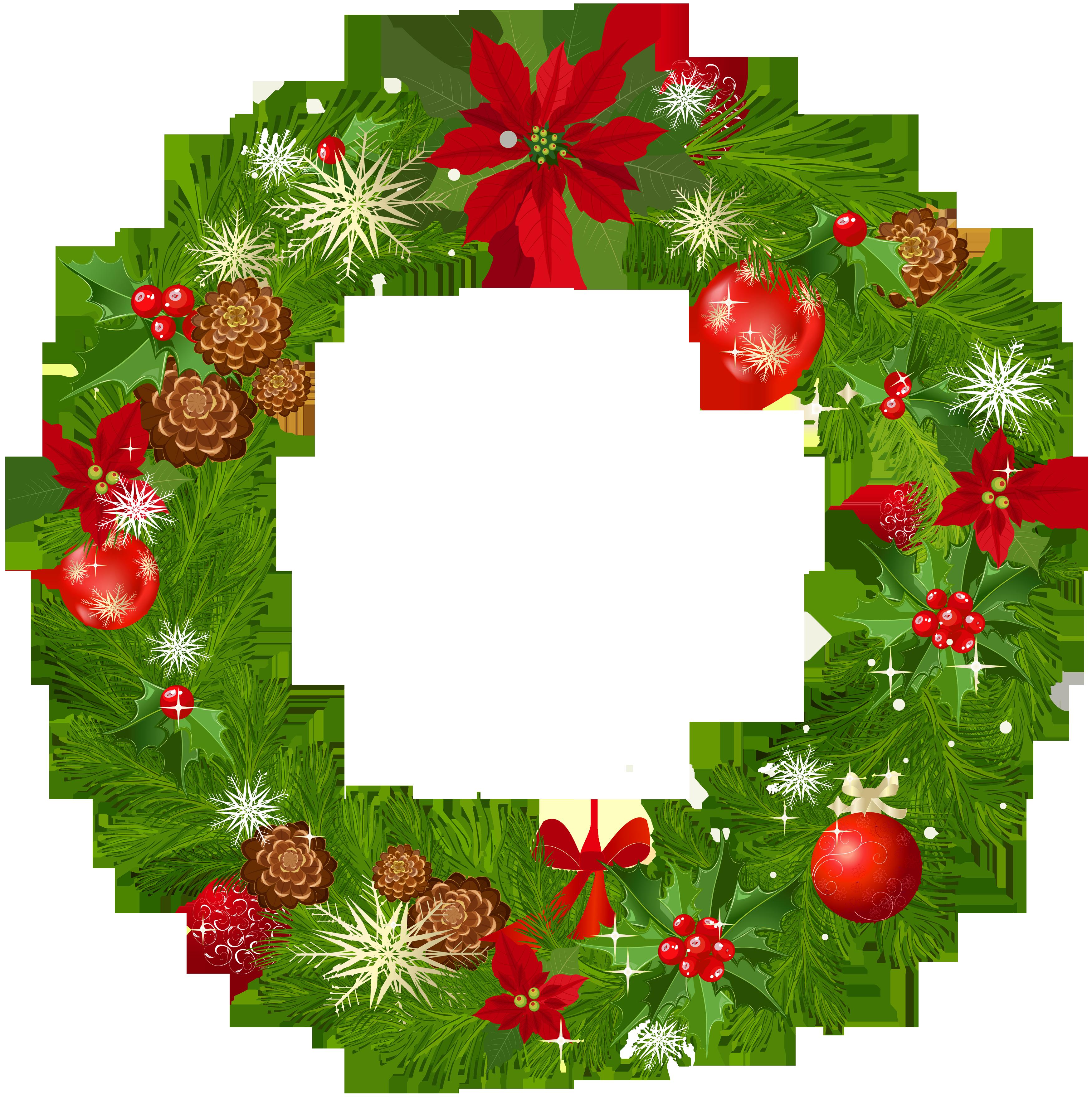 Wreath clipart vintage christmas wreath Clipart Art Swag vertical Free