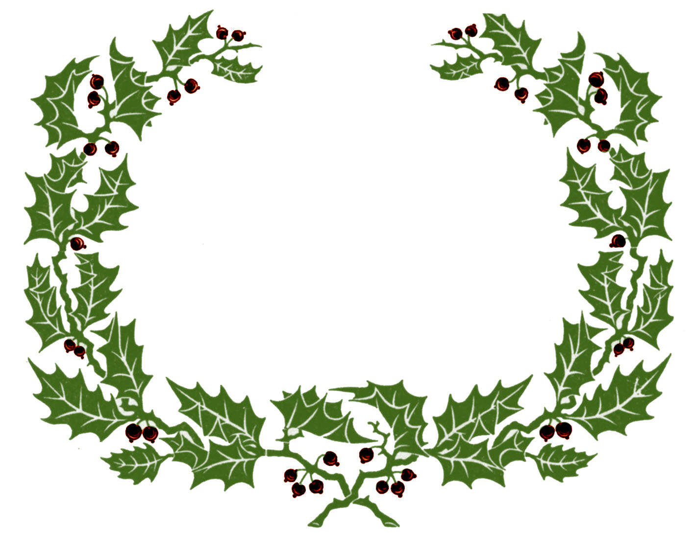 Wreath clipart border Clipart Holly free free garland