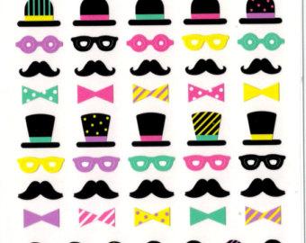 Swag clipart mustache glass Mustache Colorful DIY Glasses –