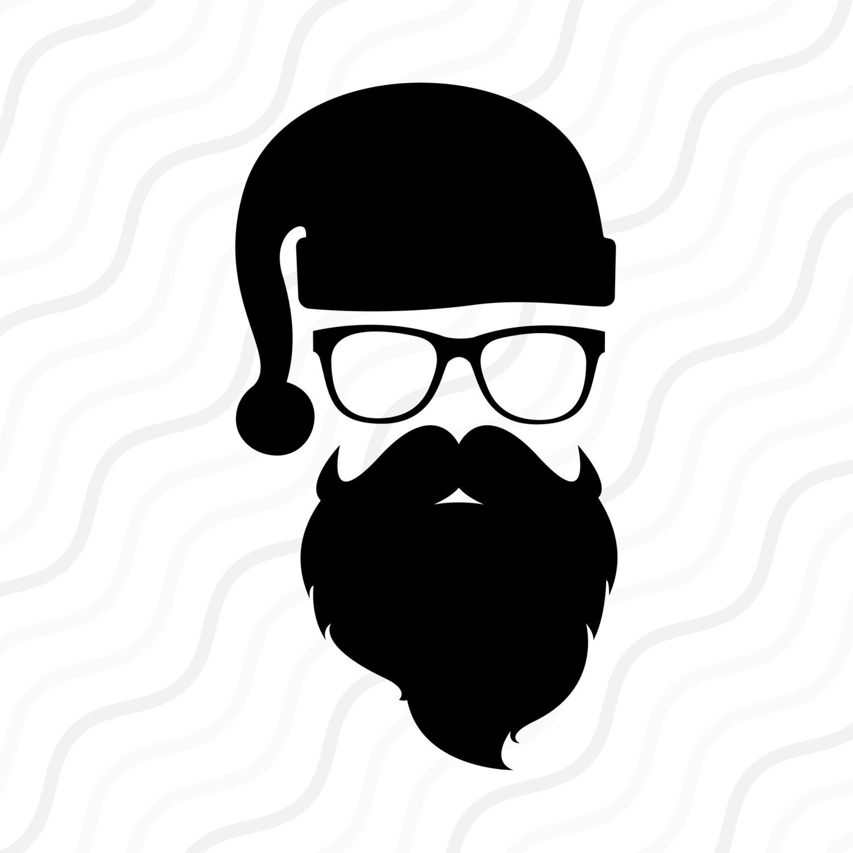 Swag clipart mustache glass Cut SVG Design clip Santa