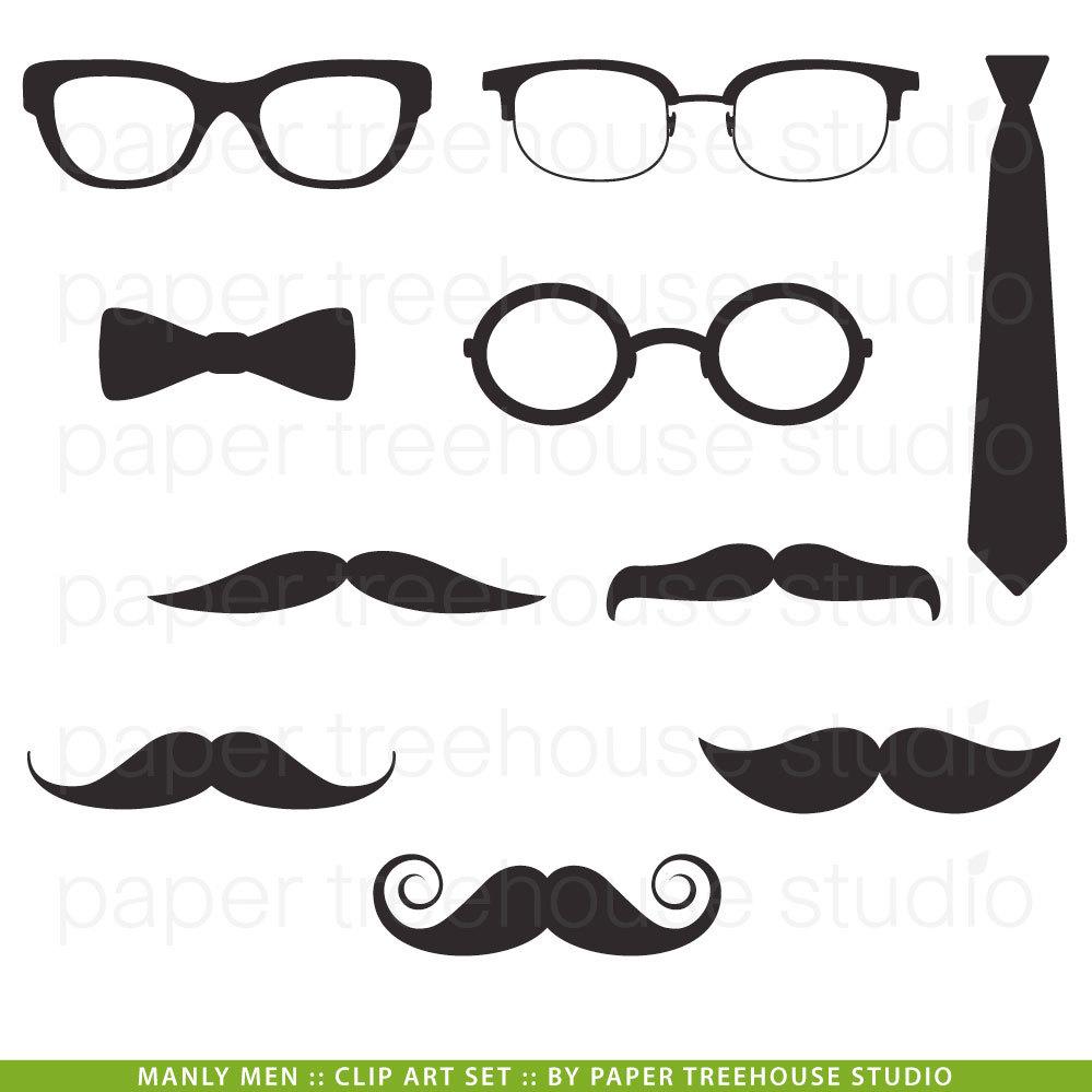 Swag clipart mustache glass Ties Eye Clip Print Wear