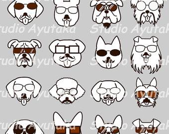 Swag clipart mustache glass Glasses art mustache Dog clip