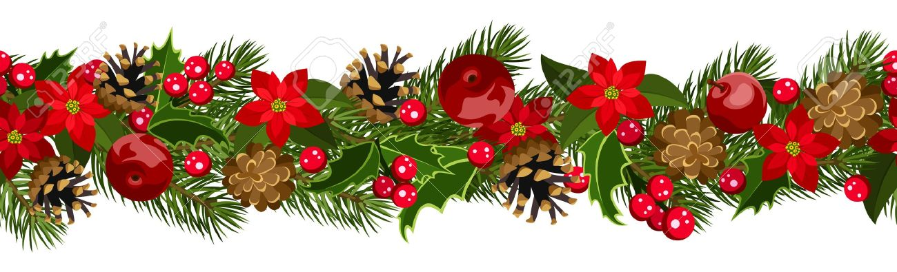 Holley clipart garland Happy Garland Christmas (04) Clipart