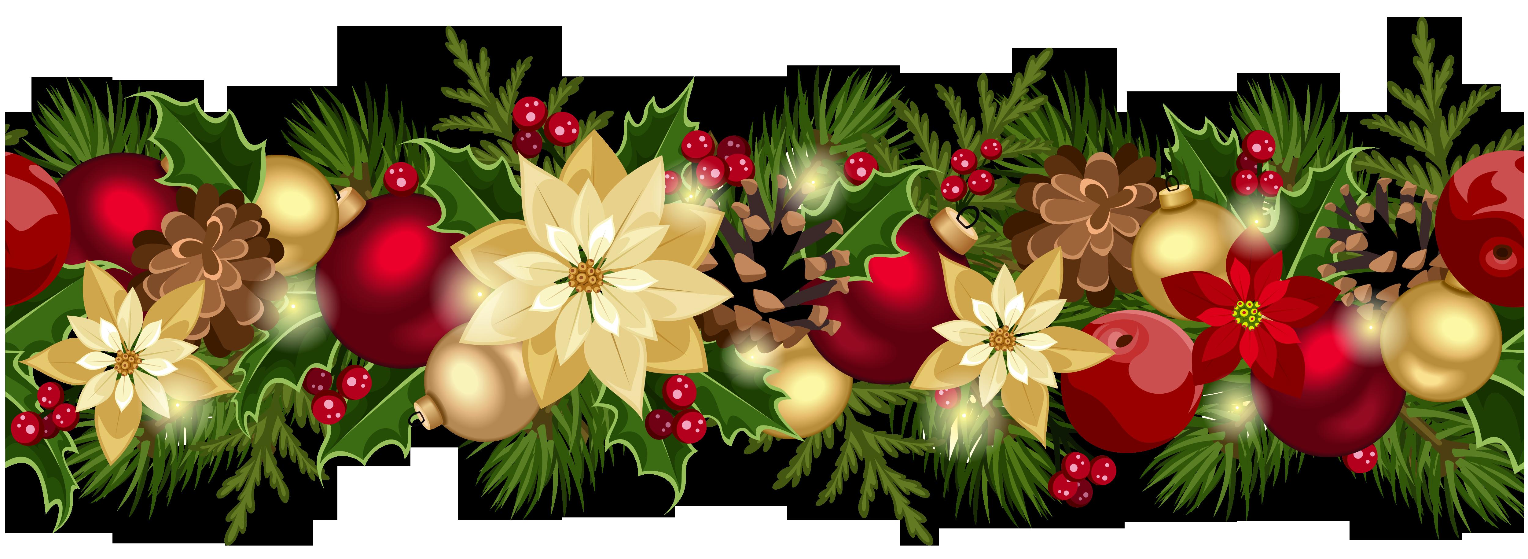Wreath clipart evergreen garland Christmas Art Clip Clip Swag
