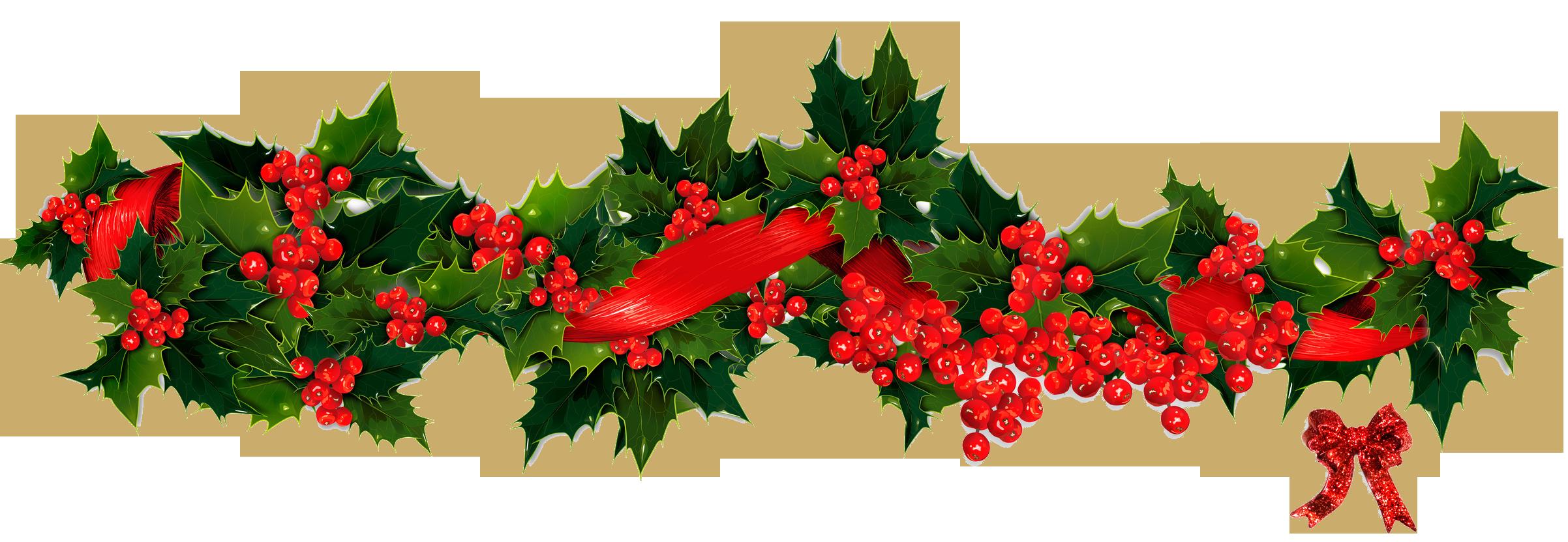 Holley clipart garland Clipart Garland Christmas transparent clipart