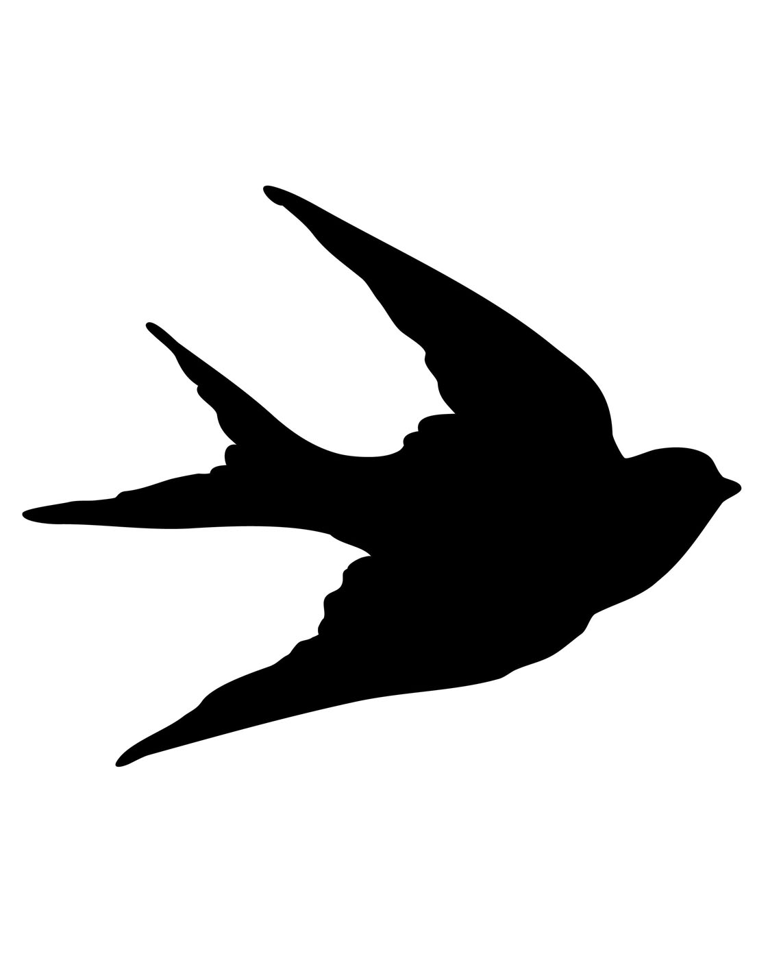 Blackbird clipart bird silhouette The Silhouettes Bird Swallows Fairy