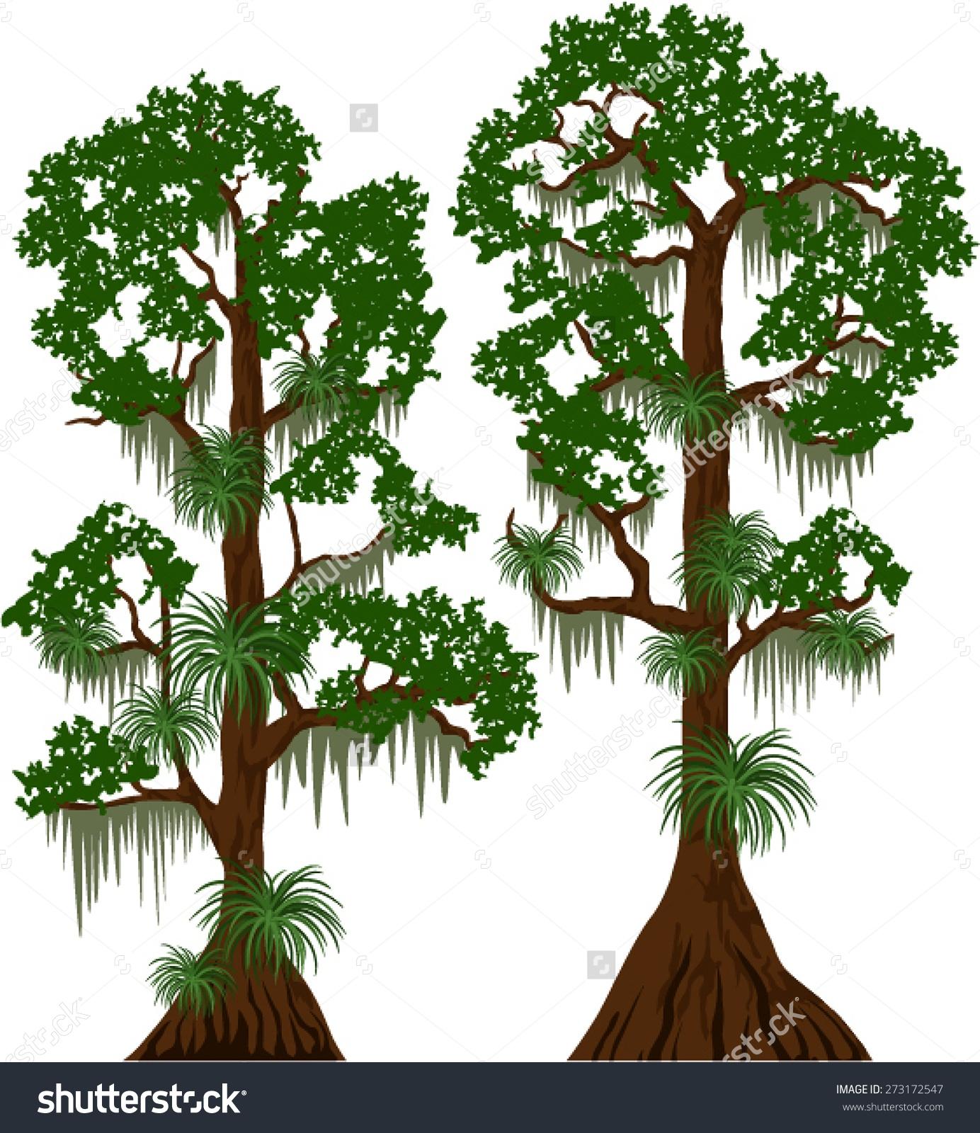 Bush clipart blackberry bush Cypress tree silhouette art clipart