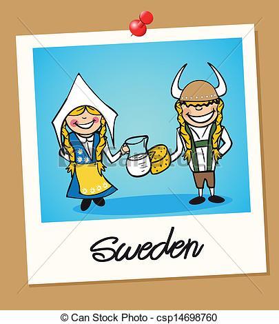 Sweden clipart Polaroid Sweden and Vector Sweden