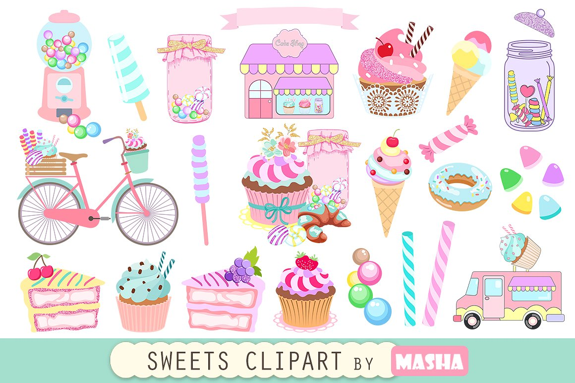 Sweets clipart Market SWEETS clipart Creative ~