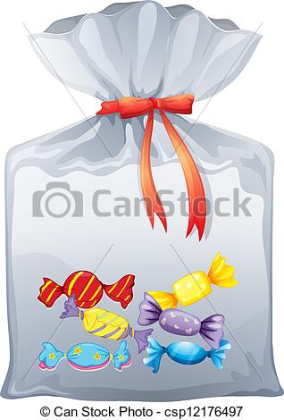 Sweets clipart bag sweet EPS of pouch A Illustration