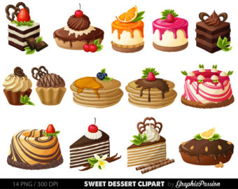 Baking clipart sweet treat Clipart Digital Digital clip Dessert