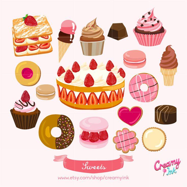 Pastry clipart baked goods Design Pinterest art/ / Cake