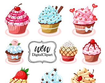 Pastry clipart cupcake Art clip Clip Cupcakes cupcake
