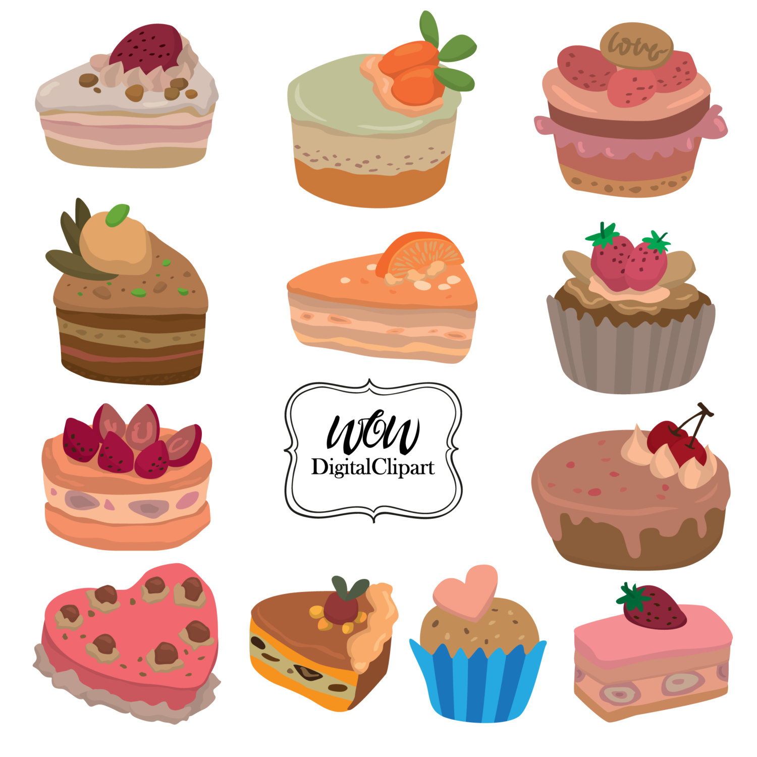 Baking clipart sweet treat Clip Treat Bakery Cake Card