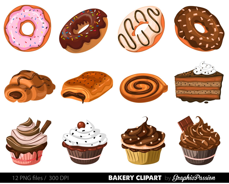 Pastry clipart baked goods Pie Clipart art Cake Ginger